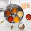Moroccan Spice Tin with 10 Spices & Handmade Silk Sari Wrap